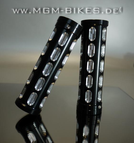 Lenkergriffe Satz Aluminium CNC schwarz eloxiert Griffe